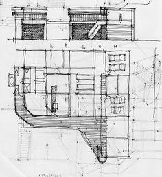 Michael Malone design sketch 07 || Architectural Sketching Bob Borson