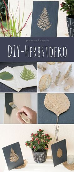 DIY-Herbstdeko für draußen: Holztafeln mit goldenen Blättern If you have time at the weekend, try this great DIY tip for the coming autumn! Diy Crafts Love, Crafts For Teens To Make, Fall Crafts For Kids, Autumn Crafts, Summer Crafts, Kids Crafts, Golden Leaves, Décor Boho, Fall Diy