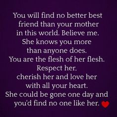 More islamic quotes HERE....I'm not Islamic, but I sure feel this way about my Momma. I miss her.