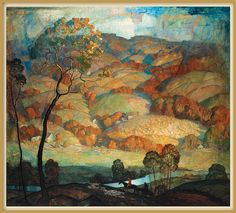 """'Brandywine Hill' country - """"Chadds Ford Hills"""" by N.C. Wyeth"""