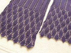 Summer Stream Scarf is a cotton scarf for summer season, consists of simple lace patterns. You can make it with only one skein of the yarn. Easy Scarf Knitting Patterns, Shawl Patterns, Lace Patterns, Lace Knitting, Knitting Stitches, Knit Crochet, Knitting Scarves, Ravelry, How To Purl Knit