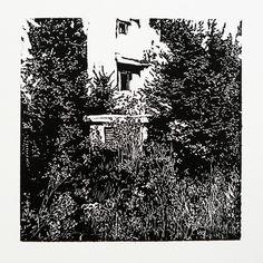 > Zlatovská 2181-3 [printmaking, cutting into MDF] #printmaking #woodcut #bunker #art #shelters