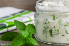View top-quality stock photos of Homemade Sugar Scrub With Mint Leaves And Essential Mint Oil. Mint Oil, Sugar Scrub Homemade, Good To Know, Peppermint, Mason Jars, Avocado, Vegan, Healthy, Recipes