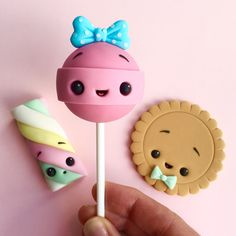 Cute candy cake toppers - sweets - fondant - gum paste - kawaii