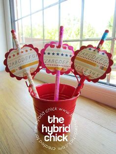 Back to School Pencil Toppers « The Hybrid Chick