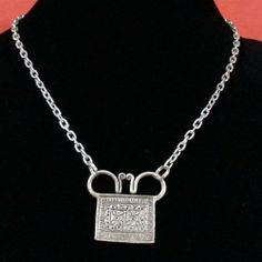 Dual Flower Soul Lock Necklace Silver Chain via TGXC. Click on the image to see more!