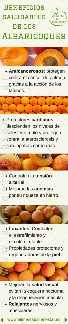 Beneficios para la salud de los albaricoques #alimentatubienestar