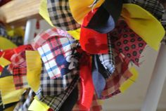 Mickey Mouse Themed Garland In Black Red and Yellows on Etsy, $29.99
