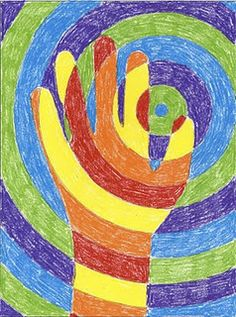 Handprint art - I am so doing this!!! <3