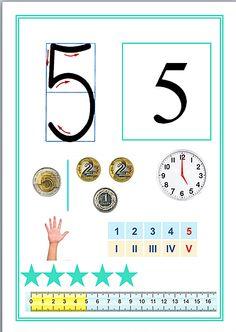 Monografia liczb   Kreatywny Świat Edukacji Math Games, Preschool Activities, School Frame, Montessori Math, Teaching Math, Classroom Decor, Homeschool, 1, Techno