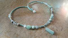 Check out this item in my Etsy shop https://www.etsy.com/listing/511939023/long-hemp-necklace-blue-aventurine-sea