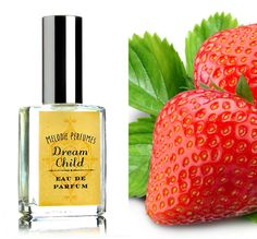 Dream Child perfume spray. Strawberries and Champagne.Strawberry perfume - Dream Child perfume ™ perfume.. Bright strawberry top note which develops into sophisticated berry with notes of sparkling wine, and gentle woods. Sweetly seductive.