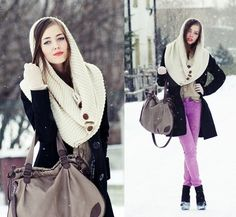 Oh the weather outside is frightful... (by Kasia Gorol) http://lookbook.nu/look/1426289-Oh-the-weather-outside-is-frightful