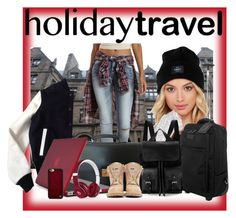 """Holiday Travel"" by fashionista4uandme ❤ liked on Polyvore featuring OBEY Clothing, Lipault, American College, Charlotte Russe, Louis Vuitton, Speck, Aspinal of London, Beats by Dr. Dre, Wildflower and Balmain"