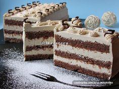 Recepti iz moje bilježnice: Crnac u bijelom - My site Torte Cake, Pie Cake, No Bake Cake, Torte Recepti, Kolaci I Torte, Baking Recipes, Cookie Recipes, Dessert Recipes, Croatian Recipes