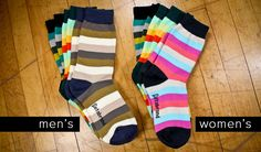 COLOURlovers Striped Sock Three-Pack - Betabrand