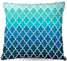 Decorative Woven Couch / Throw Pillow from DiaNoche Designs by Organic Saturation Unique Bedroom, Living Room and Bathroom Ideas - Aqua Ombre Quatrefoil DiaNoche Designs http://www.amazon.com/dp/B00PHFCPTW/ref=cm_sw_r_pi_dp_GNjHub19MT2GW
