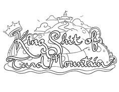 turd coloring pages - skittle tits swear words coloring page from the sweary