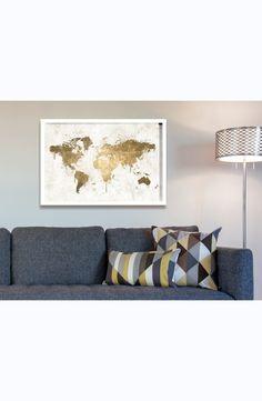 'Mapamundi' Framed Art Print