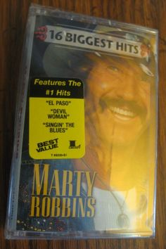 16 Biggest Hits Marty Robbins Cassette 1998 New Factory Sealed #RockabillyPsychobilly