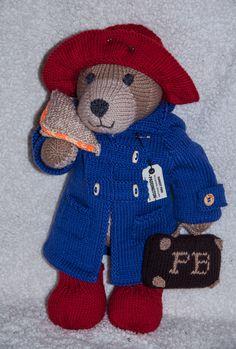 Paddington Bear knitting project by Cheryl M