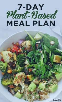 if you don't plan on being vegan, you can still enjoy clean health benefits from this Plant-Based Meal Plan.Even if you don't plan on being vegan, you can still enjoy clean health benefits from this Plant-Based Meal Plan. Ketogenic Diet Meal Plan, Keto Meal Plan, Diet Meal Plans, Meal Prep, Diet Recipes, Vegetarian Recipes, Healthy Recipes, Vegetarian Breakfast, Healthy Salads