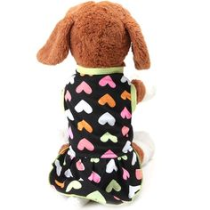 Dimart Comfortable Cozy Pet Clothes Heart Pattern Soft Cotton Dogs Puppy Dress (Multicolor) ** Be sure to check out this awesome product. (This is an affiliate link) #DogsApparel
