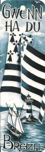 Gwenn ha du = Blanc et noir (Nom du drapeau breton) Breizh Ma Bro, Region Bretagne, Brittany France, France Travel, Travel Posters, Beautiful Landscapes, Vintage Posters, Flag, Quilts