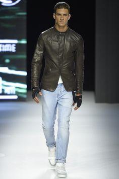 Dirk Bikkembergs Men's RTW Spring 2015 - Slideshow Leather jacket