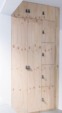 DIY cabinet made of plywood . + DIY cabinet made of plywood . plywood wardrobe More DIY: Maak je eigen Tipi - Goodlives Ekimetrics designed by Estelle Vincent Architecture Dekoholz Sperrholz Sperrholz . Bedroom Storage Ideas For Clothes, Bedroom Storage For Small Rooms, Diy Clothes, Plywood Cabinets, Diy Cabinets, Cupboards, Storage Cabinets, Kitchen Cabinets, Closet Storage