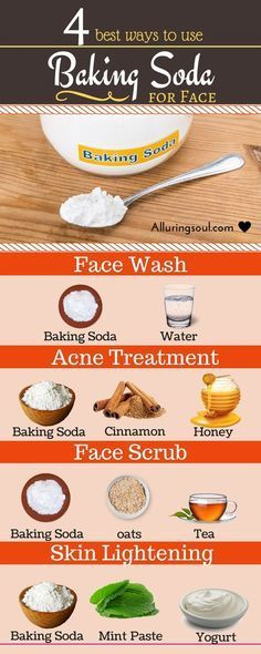 The best DIY projects & DIY ideas and tutorials: sewing, paper craft, DIY. Natural & DIY Skin Care : Baking soda is a cheapest and effective ingridients to treat your skin woes. It exfoliates skin, treat acne and improves the Beauty Care, Beauty Skin, Beauty Tips, Beauty Hacks, Diy Beauty, Homemade Beauty, Beauty Ideas, Face Beauty, Luxury Beauty