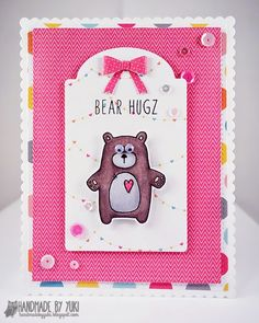 Bear Hugz Card By Yuki | Abby's Spring Showers by Simon Says Stamp