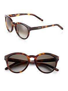 Chlo? Round+Plastic+Sunglasses