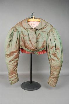 Spencer: ca. 1820-1860, from Vogtland, silk, cotton wool.