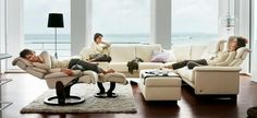 white stressless sofa set | Stressless Chair for relaxing moments in the leisure | 1 Decor