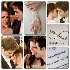 Bella and Edward - Wedding collage