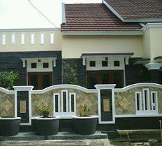 Modern Bricks Design for Gate 9 House Fence Design, Front Wall Design, Exterior Wall Design, Modern Fence Design, House Outside Design, House Ceiling Design, Brick Design, Door Design, Boundry Wall