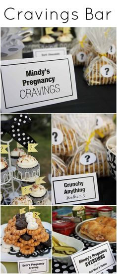 {Cravings Bar} with pregnancy cravings, pregnancy aversions, and daddy-to-be's cravings :).
