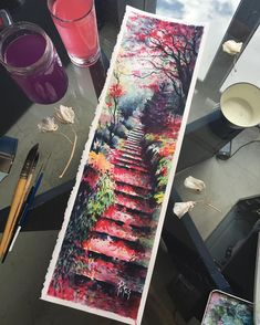 What is Your Painting Style? How do you find your own painting style? What is your painting style? Painting & Drawing, Watercolor Paintings, Watercolor Drawing, Paintings Of Landscapes, Painting With Watercolors, Watercolor Japan, Artwork Paintings, Simple Watercolor, Watercolor Water