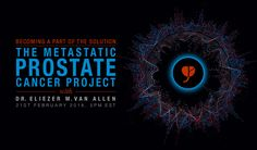 The Metastatic Prostate Cancer (PC) Project is a new initiative coordinated by the Broad Institute in Cambridge, Massachusetts. Initially, it will allow patients in North America with advanced PC to contribute their personal genetic, genomic, & clinical data to the development of the world's most comprehensive database on advanced PC. The entire PC research community will be able to access this database. The PC panel led by Mike Scott will be talking to Dr. Eli Van Allen about the project.