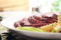 Tender barbecue e cuscuz marroquino com maca verde | DigaMaria.com