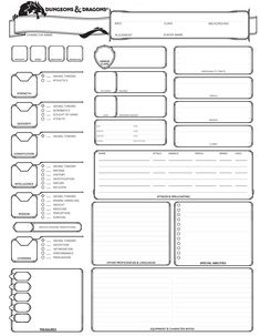 Gutsy image in dnd character sheet printable