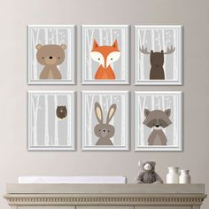 Baby Boy Nursery Art. Woodland Nursery Art. Woodland Nursery