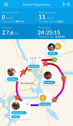 Holiday season is coming and perhaps the most hard-working man out there is Santa Claus. A big fan of TraceMyTrack, Santa made a screenshot of yesterday's hard labor, and he says that this is his daily routine until Christmas
