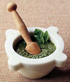 Recipe for Genovese Basil Pesto : La Cucina Italiana -- fresh Genovese pesto is so yummy