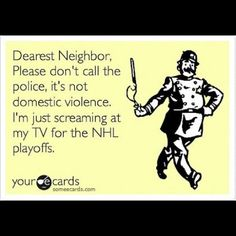 Dearest Fans, please give your neighbors the heads up. #becauseitstheCup