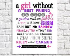 Cute! I am going to write this to my BFF