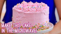 Brilliant Image of Birthday Cake Big Size Images . Birthday Cake Big Size Images 3 Layer Cake Made In The Microwave Gemmas Bigger Bolder Baking Cakes To Make, How To Make Cake, Best Cake Recipes, Dessert Recipes, Baking Recipes, Microwave Cheesecake Recipe, Microwave Baking, Microwave Desserts, Microwave Meals