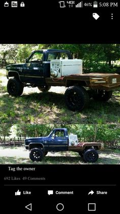 I would like to get an old truck and do this to it