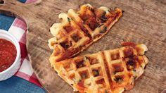Pizza Waffles: Combine two of our favorite foods, and we're in. These waffles are fluffy, crispy, and perfectly golden brown – and stuffed with cheese, pepperoni, and all our favorite toppings.